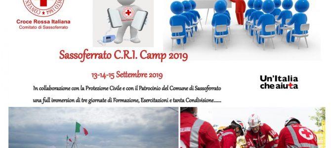 Campo Base CRI – Protezione Civile 2019
